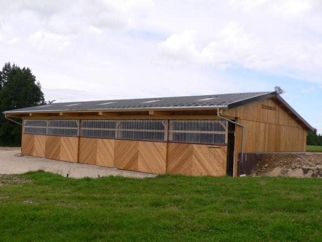 B u00e2timents agricoles en Franche Comté # Batiment Bois Agricole